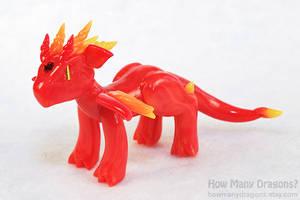 Rainbow Elementals: Fire Dragon by HowManyDragons