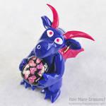 Happy Heartful Blue Dragon