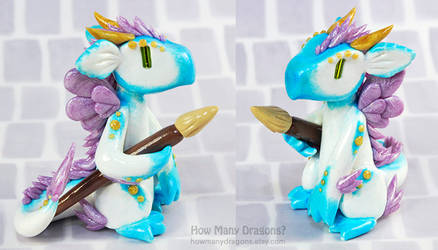Paintbrush Fairy Dragon by HowManyDragons