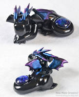 Large Black Dichro Dragon by HowManyDragons