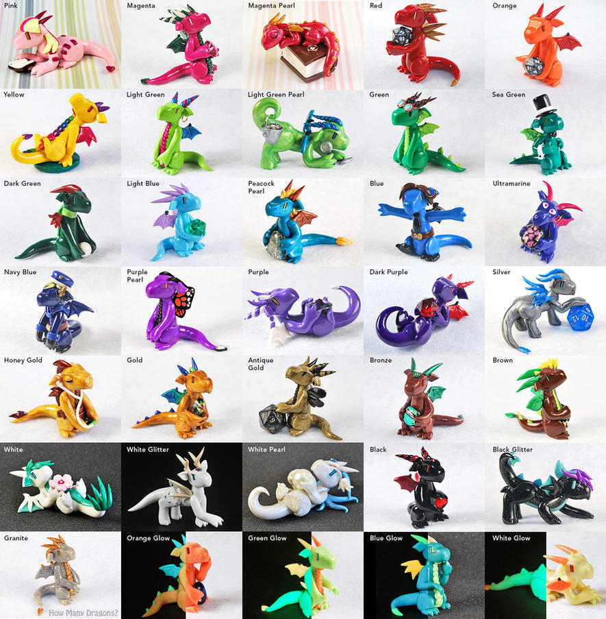 Clay Dragon Color Chart By Howmanydragons On Deviantart