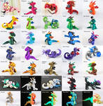 Clay Dragon Color Chart by HowManyDragons