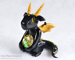 Black and Yellow Gem Dragon by HowManyDragons