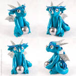 Mischievous Teal Blue Dragon