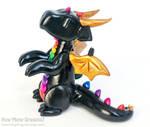 Begging Black Rainbow Dragon