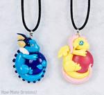 Dragon Pendants: Vaporeon and Fluttershy