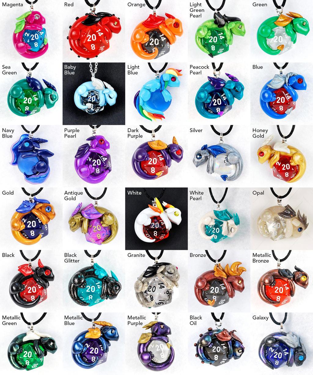 Colorful Dragon Pendants