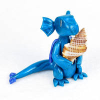 Water Dragon with Seashell by HowManyDragons