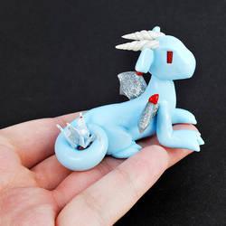 Baby Blue Paper Crane Dragon