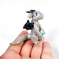 Labradorite Gem Dragon by HowManyDragons