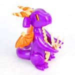 Purple and Orange Paper Crane Dragon