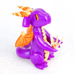 Purple and Orange Paper Crane Dragon