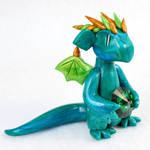 Tourmaline Green Gem Dragon
