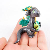 Gunmetal Gem Dragon by HowManyDragons