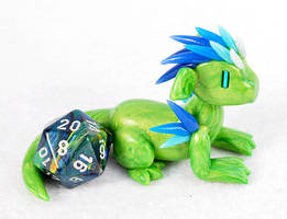 Green and Blue Dice Dragon by HowManyDragons