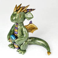 Antique Green Dichro Dragon by HowManyDragons