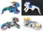 Rainbow Faux-Dichro Dragons by HowManyDragons