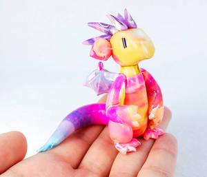 Tropical Sunset Watercolor Dragon
