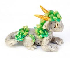 Green Crystal Dragon by HowManyDragons