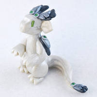 White Pearl Feathered Dragon by HowManyDragons