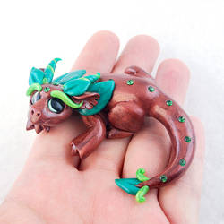 Woodsy Glass Eye Dragon by HowManyDragons