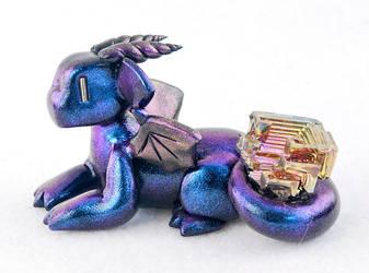 Blue/Purple Bismuth Dragon by HowManyDragons