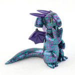Teal and Purple Glitter Dragon