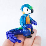 Parrot-Dragon Hybrid: Blue and Gold Macaw