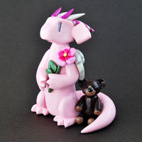 Pink Memorial Dragon by HowManyDragons