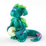 Leafy Green Pearl Dragon by HowManyDragons
