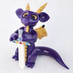 Royal Purple Dragon with Sword