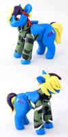 My Little Pony-style OC: Indigo by HowManyDragons