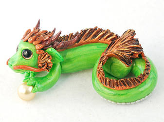 Green Chinese Dragon Figurine by HowManyDragons