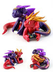 Purple and Red Gamer Dragon Couple