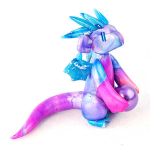 Purple and Pink Watercolor Pearl Dragon