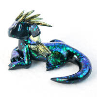 Black Opal Dragon Guardian by HowManyDragons