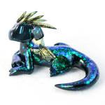 Black Opal Dragon Guardian by HowManyDragons