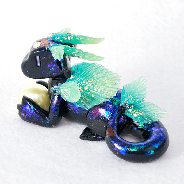 Black Opal Ocean Dragon by HowManyDragons