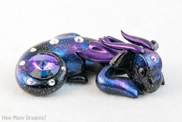 Sleeping Galaxy Gem Dragon by HowManyDragons