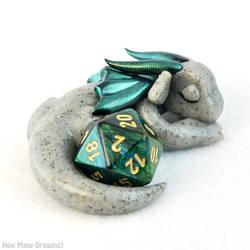 Sleeping Granite Dice Dragon