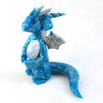 Blue Opal Dragon with Moonstone