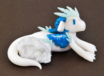 Icy Geode Dragon by HowManyDragons