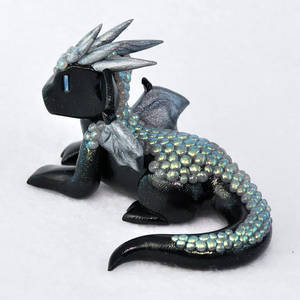Black and Green Aurora Dragon