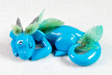 Sleeping Turquoise Sea Dragon