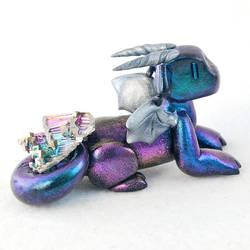 Metallic Multicolored Bismuth Dragon