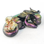 Sleeping Pink Bismuth Dragon