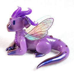 Translucent Purple Fairy Dragon by HowManyDragons