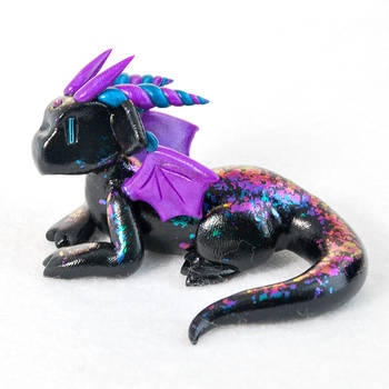 Black Peacock Scaled Dragon by HowManyDragons