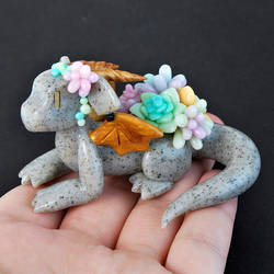 Stone Succulent Dragon by HowManyDragons