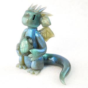 Dusky Green Labradorite Dragon